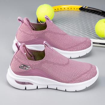 2021 letnie damskie buty sportowe ciemnoniebieskie różowe damskie skarpety buty do biegania damskie siłownia lampka na buty waga buty sportowe s bieganie dla kobiet tanie i dobre opinie Mangobox WOMEN CN (pochodzenie) Lunlar Zapewniające stabilność Na betonową podłogę Zaawansowane Adult oddychająca