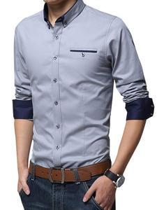 Legible Casual Social Formal shirt Men long Sleeve Shirt Business Slim Office Shirt male Cotton Mens Dress Shirts white 4XL 5XL