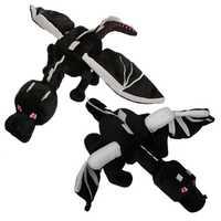 60cm My World Ender Dragon Plush Toy Soft Black Enderdragon PP Cotton Dinosaur Toys