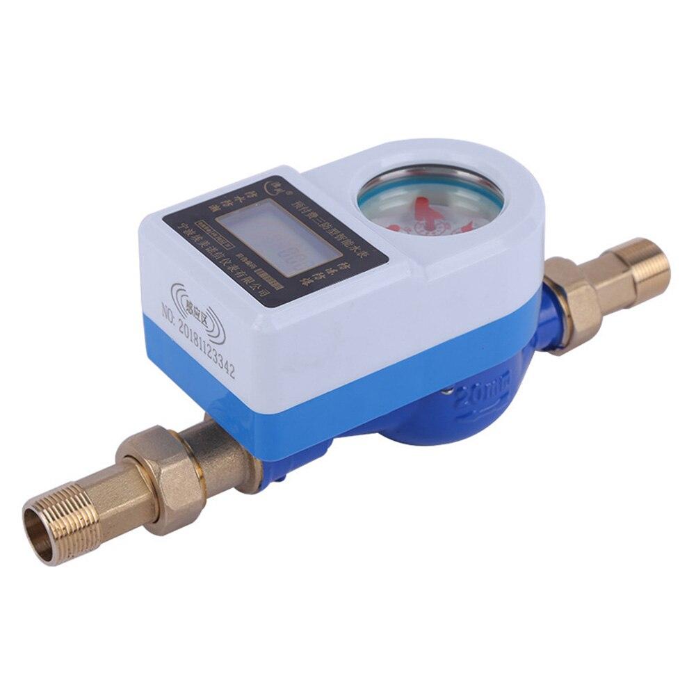 15mm sans fil Smart outils de mesure jardin LCD affichage compteur d'eau froide robinet étanche cuivre maison pivotant carte Table rotative