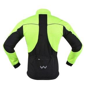 Image 2 - Arsuxeo Mannen Thermische Fleece Fietsen Jacket Set Mtb Jersey Winter Winddicht Sportkleding Fiets Broek Fiets Past Kleding 16HH