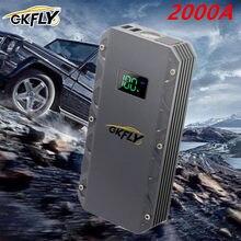 GKFLY 2000A urządzenie do uruchamiania awaryjnego samochodu 24000mAh przenośny do samochodu urządzenie zapłonowe Power Bank benzyna samochód z napędem Diesel ładowarka do wzmacniacz do akumulatora samochodowego