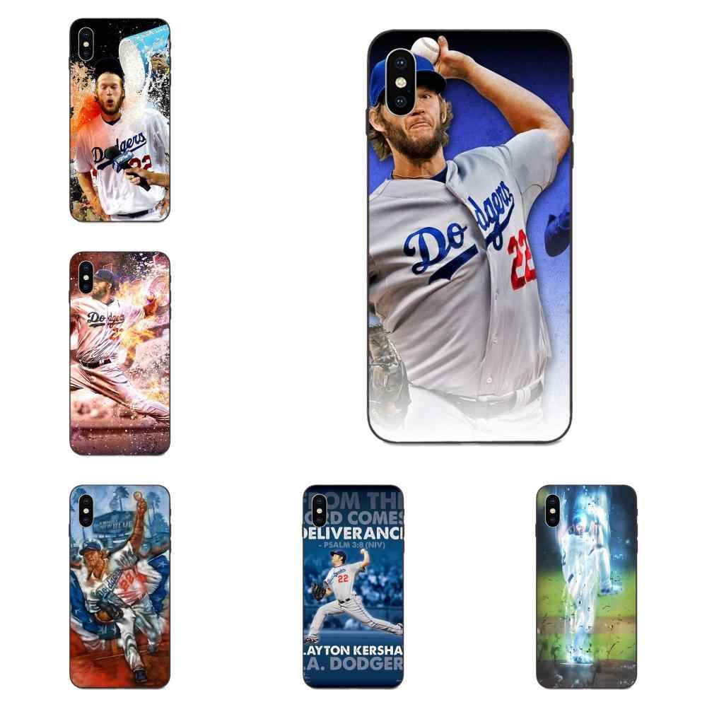Supersonic โทรศัพท์กรณี Clayton Kershaw เบสบอลเดิมสำหรับ Apple iPhone 4 4S 5S SE 6 6S 7 8 Plus X XS Max XR