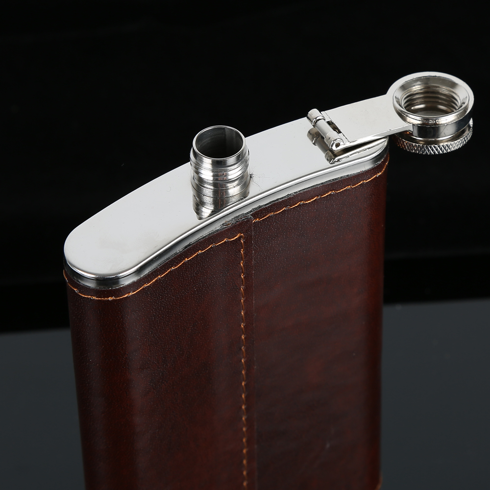 Hb7ac431b5086444bb8b44647fe15bd82l Hip Flask 5 6 7 8 9 10oz Stainless Steel PU Pocket Drink Holder Whisky Liquor Vodka