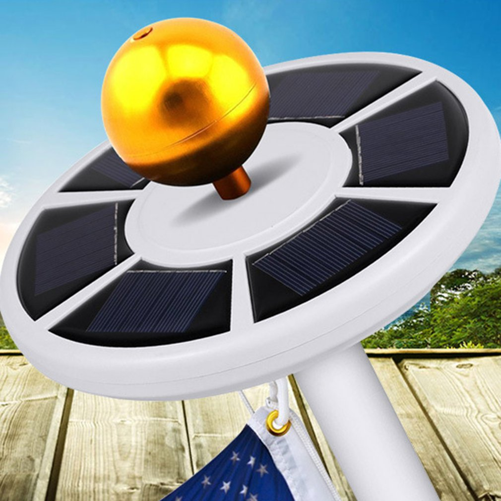 42 LED Solar Powered Energie Flagge Pol Lampe Wasserdichte Outdoor Garten Licht Solar LED Solar Lampe Sensitive Light Control