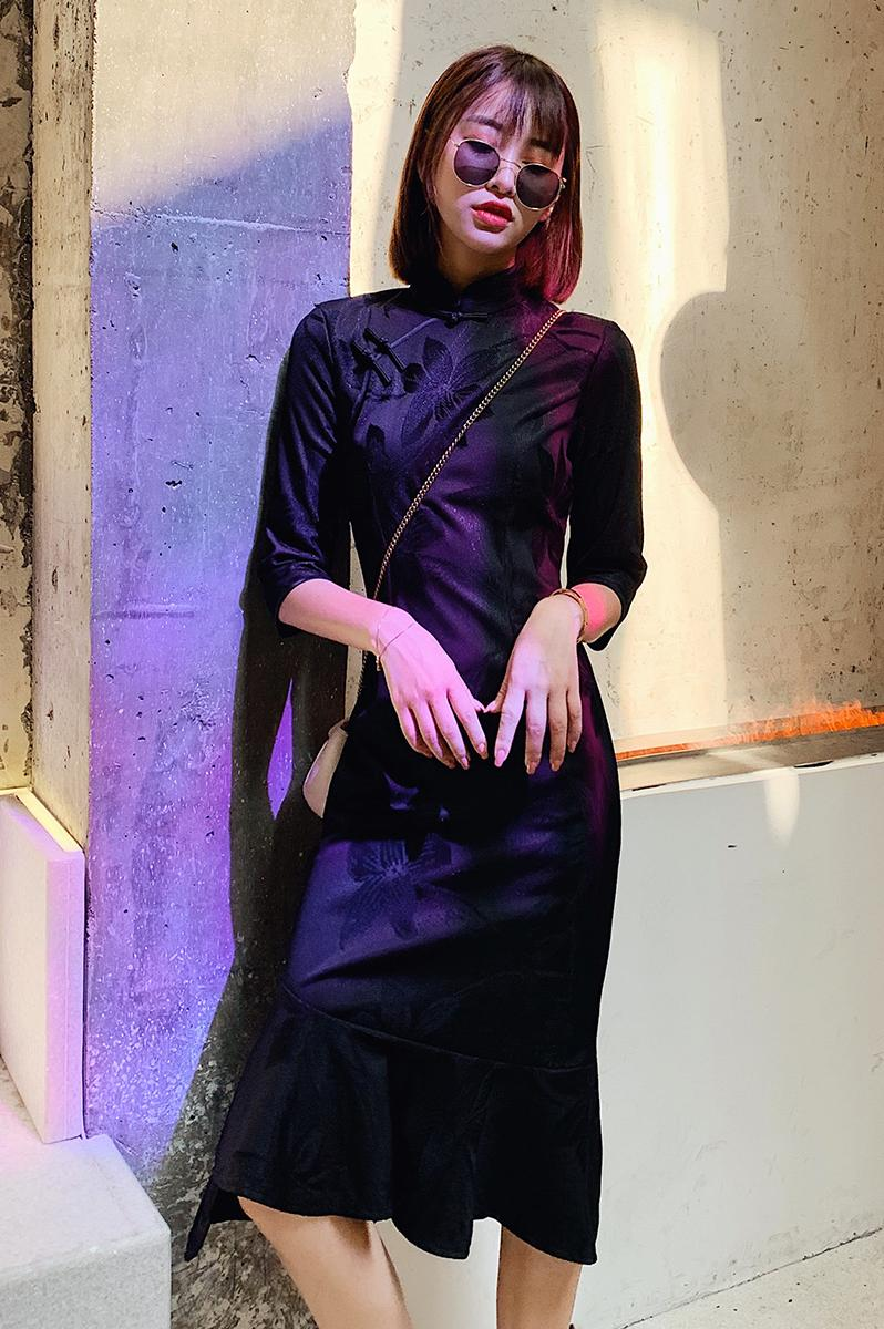 2020 Trasitional Chinese Dress Women Improved Cheongsam Elegant Vintage Long Qipao Evening Party Gowns Female Vestidos