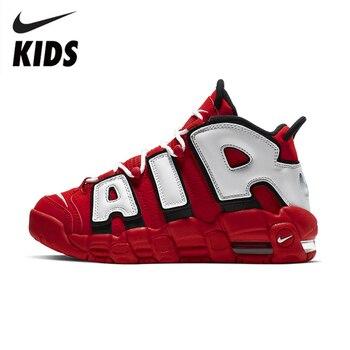 Nike Air More Uptempo Air Air Cushion Serpentine Children Basketball Shoes Boys Cq4581-100
