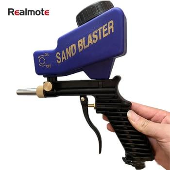 Realmote Portable Gravity Type Abrasive Blasting Gun Group Set Antirust Organ Small-sized Pneumatic airbrush