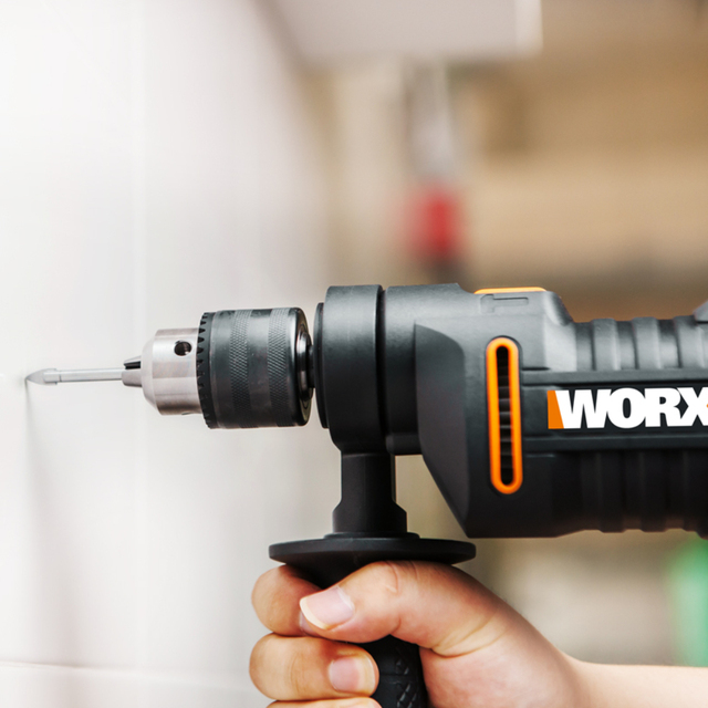 WORX 600W Impact Drill Electric Tools Screwdriver DIY WX317.2 Variable-speed Power Tools handheld 13mm keyless chuck + Tools box 6