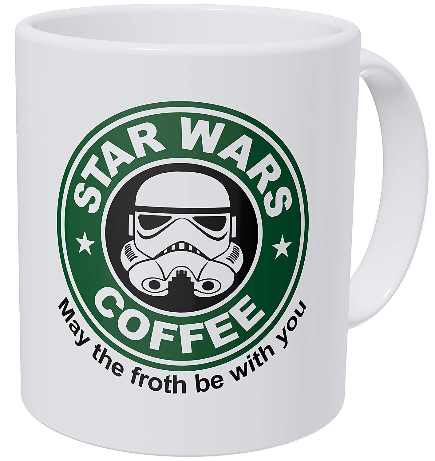 Starwars May The Froth Be With You 11 Ounces Funny Coffee