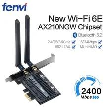 Wifi-Adapter PC Wi-Fi-Card Ax200 Pcie Dual-Band Bluetooth 3000mbps Ax210ngw-6g 6-Intel