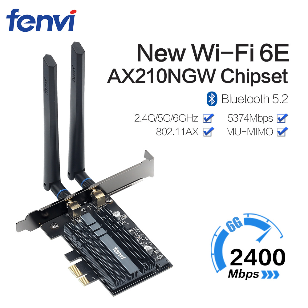 Dual Band 3000Mbps WiFi6 Intel AX200 PCIe Wireless Wifi Adapter 2.4G/5Ghz 802.11ac/AX Bluetooth AX210NGW 6G Wi-Fi 6E Card For PC