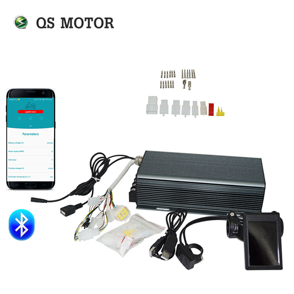 QS MOTOR TFT H6 Color Display Speedometer And 72V 100A SVMC Sabvoton Controller Kits With Bluetooth Adapter For Electric Bicycle
