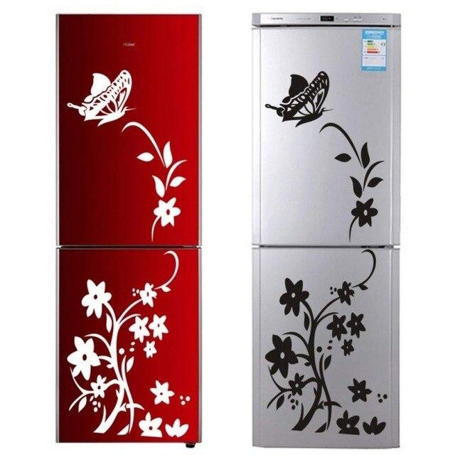 Creative butterfly flower refrigerator wallpaper home decoration mural DIY art decal children's room kitchen sticker 2