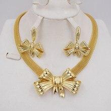 Высокое качество Ltaly 750 золотой цвет комплект ювелирных изделий для женщин африканские бусы ювелирные изделия ожерелье набор серьги ювелирные изделия