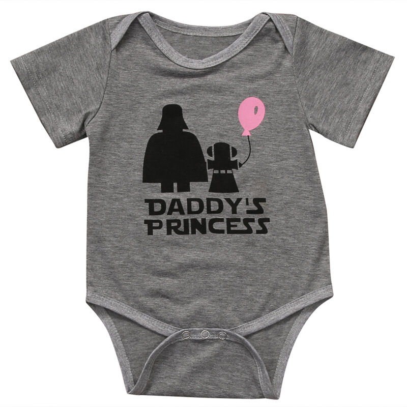 Newborn Star Wars Baby Girls Summer Bodysuit Cotton Outfits Babys Fashion Cute Short Sleeve Clothes Tops Baby Clothing Sets