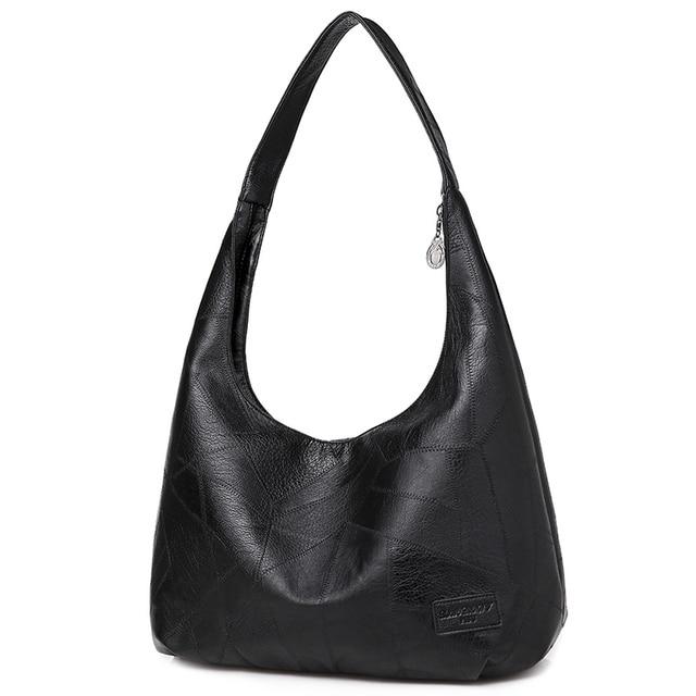 Фото черные сумки хобо женская сумочка 2020 большие кожаные женские