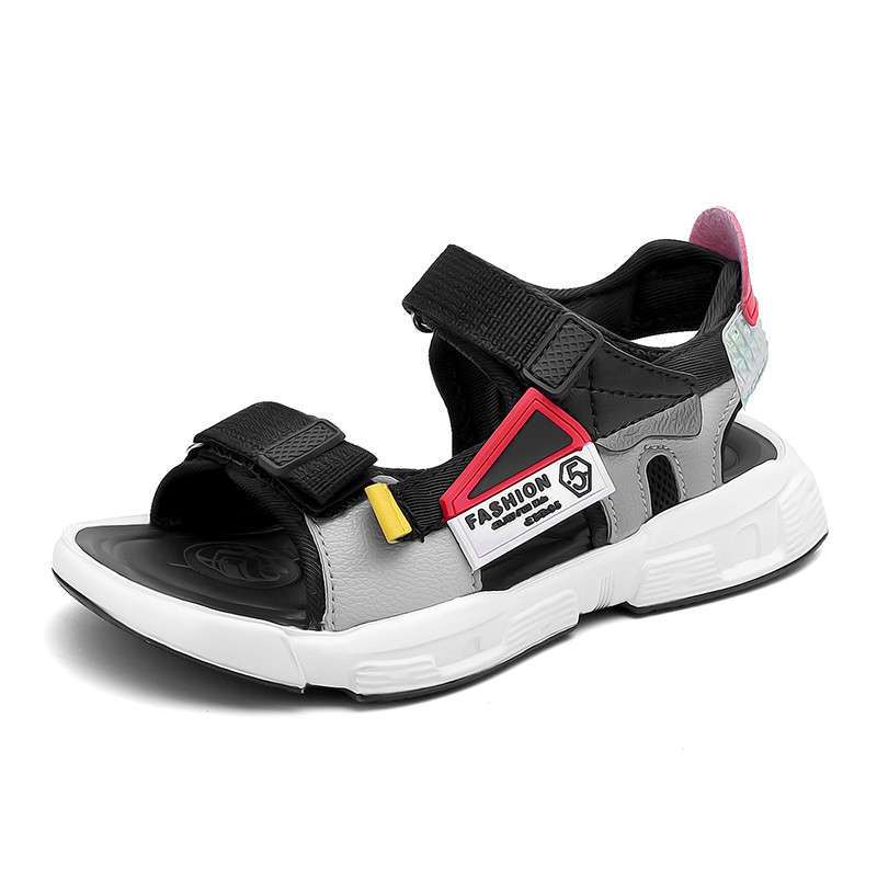 2020 New Kids Sandals For Boys Sandals Fashion Summer Children Shoes Baby Boy Closed Toe Slippers Sandalias Shoes 1687