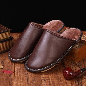 2020 fashion home slippers men's winter indoor fur slides for male female unisex short plush shoes man slippers crocs bistro unisex for male for female man woman tmallfs