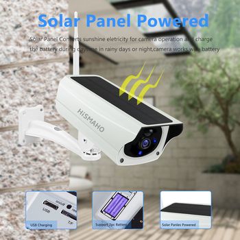 WIFI Wireless Solar Camera 1080P Metal Shell Outdoor Security Surveillance CCTV Bullet 2MP HD Battery IP Camera CamHi Pro APP 2