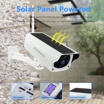 WIFI Wireless Solar Camera 1080P Metal Shell Outdoor Security Surveillance CCTV Bullet 2MP HD Battery IP Camera CamHi Pro APP 2