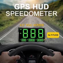 На лобовое стекло автомобиля Дисплей C60 gps Спидометр Hud Дисплей превышение скорости Предупреждение Системы лобовое стекло проектор автомобильной сигнализации Системы C80 5,5 дюймов