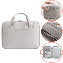 Men Business Document Bag Shockproof 13 inch Notebooks Laptop bag Briefcase A4 File Folder Paper Storage Travel Accessory