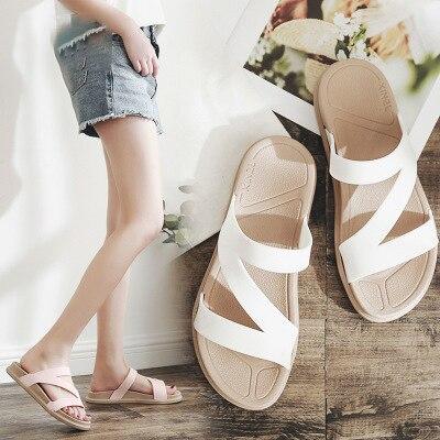 2019 Women Slippers Summer Beach Slippers Flower Print Flip Flops Sandals Woman Ladies Flats Shoes