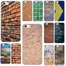Funda de teléfono móvil de silicona TPU suave con textura de pared bolsas para iPhone X XR XS Max 10 7 6 6s 8 Plus 4 4S 5 5S SE 5C Coque Shell