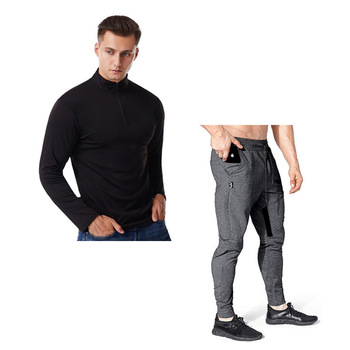 men Spring and autumn Men's sets Solid long sleeve tshirt men+pants men joggers  clothes for men  tracksuit men