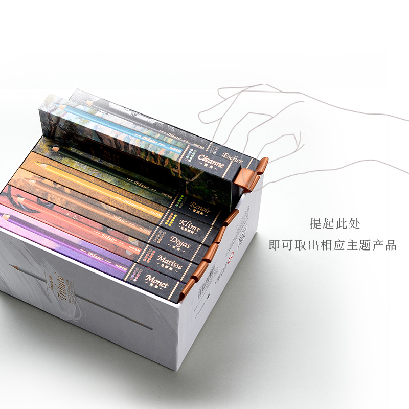 Conjunto de lápices de colores de dibujo para Artista de Arte Fino profesional de 80 colores - 5
