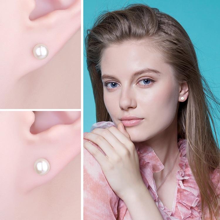 Boucles d'oreilles boule de perles de culture d'eau douce