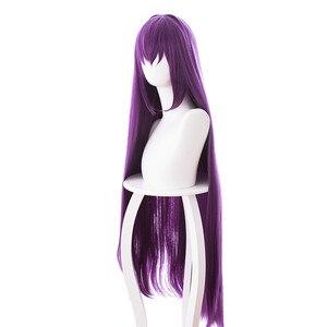 Игра Fate Grand Order Lancer Scathach Косплей парики фиолетовые длинные прямые термостойкие синтетические волосы карнавальный костюм парик