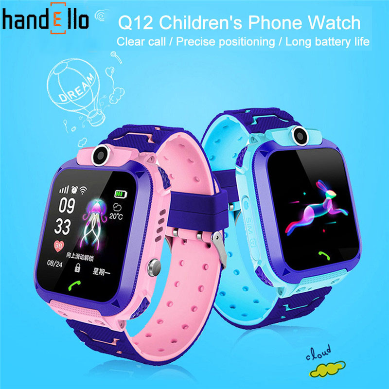 Q12 Kids Smart Phone Watch Waterproof  SOS Antil-lost GPS Finder Monitor Multifunction  For IOS Android Reloj Inteligente Nio