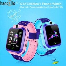 Q12 crianças relógio de telefone inteligente à prova dantiágua sos antil-lost gps finder monitor multifunções para ios android reloj inteligente nio