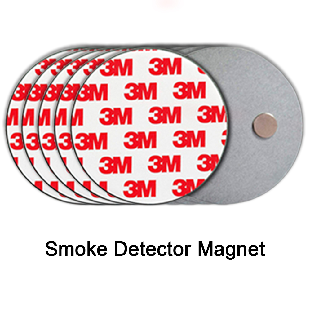 5Pcs Magnet Stickers Smoke Detector Holder Fire Detector Magnet Smoke Detector Sticker Smoke Sensor Magnet Without Screws