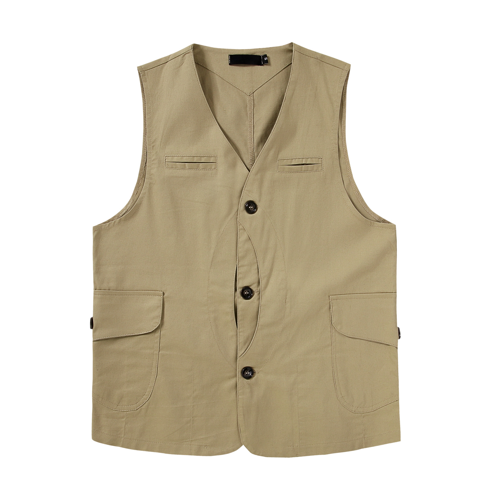 2020 Brand Men Casual Loose Vintage Vest Japan Amekaji Fashion Pocket Sleeveless Cargo Jacket Tops Waistcoat S-XXL