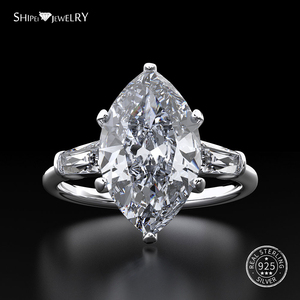 Image 2 - Shipei 天然サファイアリング女性のためのリアル 100% スターリングシルバー宝石用原石シトリン婚約ウェディングカクテル · リングファインジュエリー