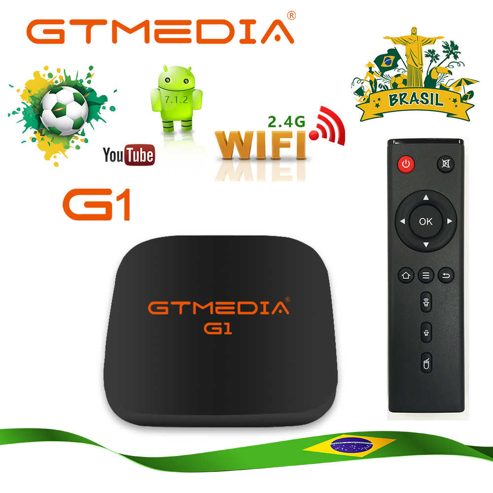 Gtmedia G1 Smart Android Tv Box Android 7.1 2G + 16G Ondersteuning Android M3u Enigma2 Set Top Box voorraad In Brazilië