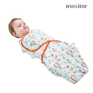 Image 2 - Insulare 2 pz/set Del Bambino Sacco A Pelo Bozzolo Neonati Infant Knit Del Cotone Del Bambino Swaddles Coperte Avvolgenti Sacco di Sonno Per 0 7 mesi