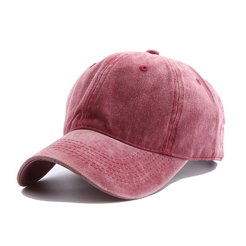 Solid Spring Summer Cap Women Ponytail Baseball Cap Fashion Hats Men Baseball Cap Cotton Outdoor Simple Vintag Visor Casual Cap 13