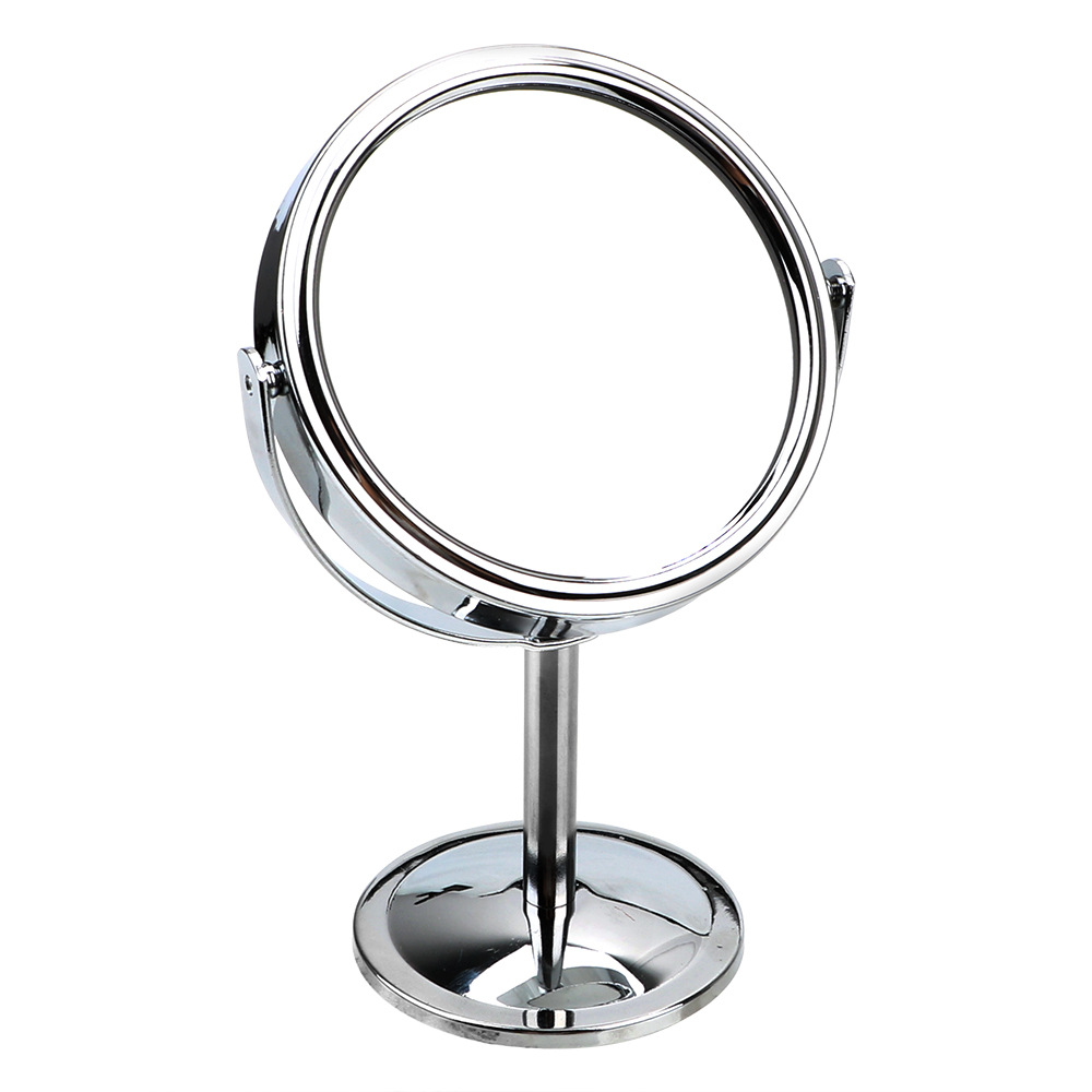 Portable Mini HD Cosmetic Mirror Round Shape Magnifier 360 Rotation Rotatable Double-Sided Clear Makeup Mirror