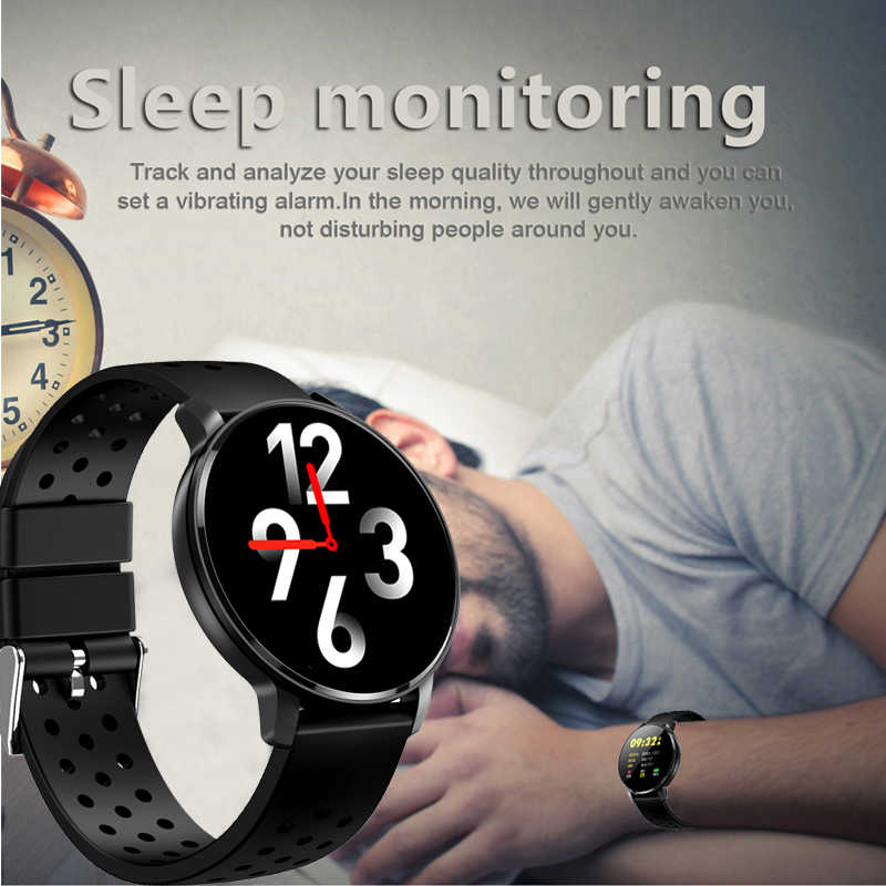 LIGE Smart Watch OLED Color Screen Smartwatch Female Fashion Fitness Tracker Heart Rate Monitor Men Smart sport Wristband N58