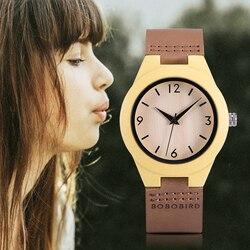 Relogio feminino BOBO BIRD деревянные женские часы кварцевые наручные часы с кожаным ремешком для дам индивидуальный подарок для подруг и дочки