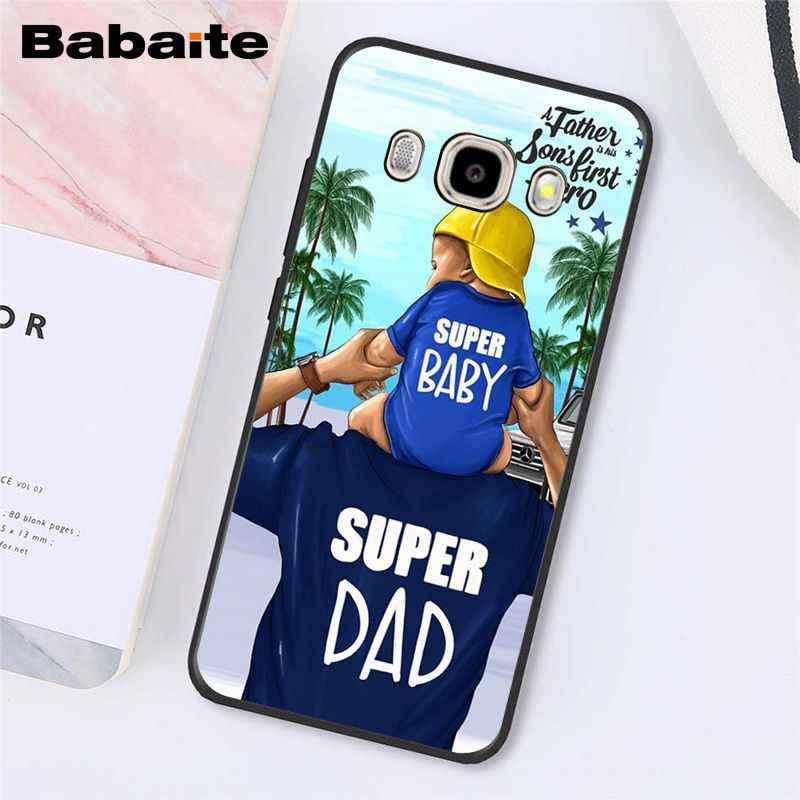 Babaite moda siyah kahverengi saç bebek anne kızı kız Son baba telefon kılıfı için SamsungJ7 2017 J6 J8 J4 artı J7NEO j2 J5Prime