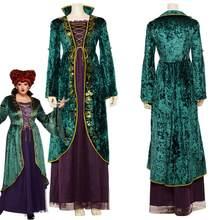Adulto winifred sanderson cosplay traje feminino vestido de halloween carnaval trajes feitos sob encomenda