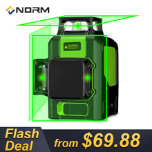 Norm 3D Rotary Beam 12 Lines Laser Auto Leveling Laser Level with Tripod Piovoting Base and Battery