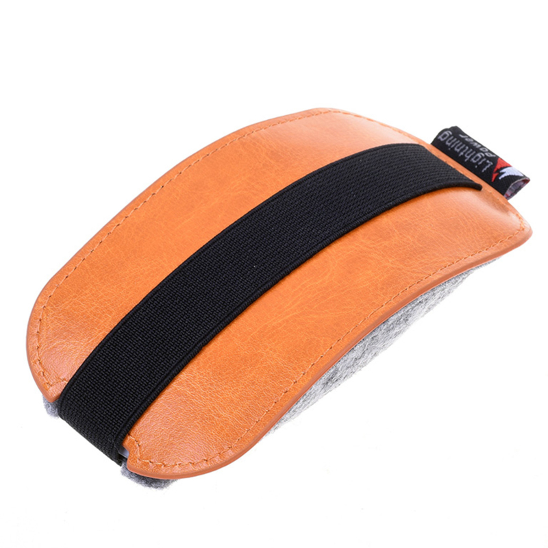 High Quality Durable Supplies Orange PU Leather Case Mice Storage Bag For Apple Magic Household Daily Use Accessories