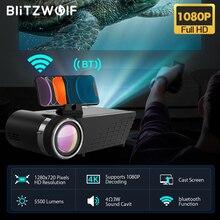 BlitzWolf BW-VP8 WIFI Projector 5500Lumens LCD LED Cast Screen Buetooth Earphone Sound Wireless Phone Same Screen Full HD 1080P