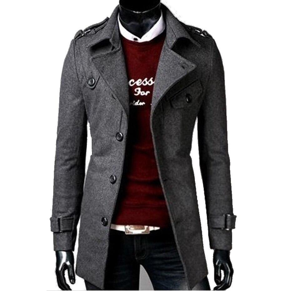 Zogaa Mens Trench Coat New Fashion Designer Men Long Coat Casual Slim Fit Mens Jackets And Coat Autumn Winter Trench Coat Men